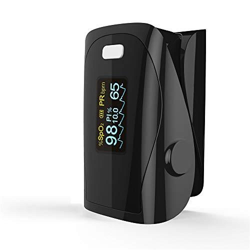 DYHQQ Pulsoximeter Fingertip - Blutsauerstoff (O2) Sättigungsmesser - mit Herzfrequenzerkennung - Fingeroximeter mit Pulsanzeige