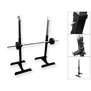BodyRip - Supporto regolabile per bilanciere da fitness, adatto per potenziamento, squat e per l'utilizzo di panca