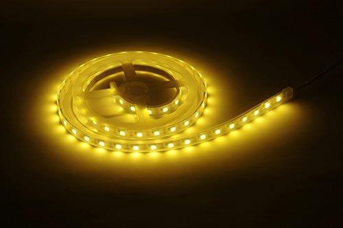 LED Streifen mit Touch Schalter Hintergrundbeleuchtung, MIRI LED Strip Nachtlicht Beleuchtung, USB LED Streifen Licht für Deko, Warmweiß, Dimmbar, 1M