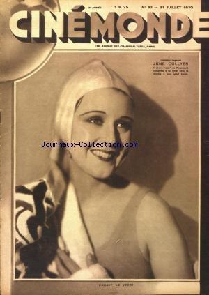 CINEMONDE [No 93] du 31/07/1930