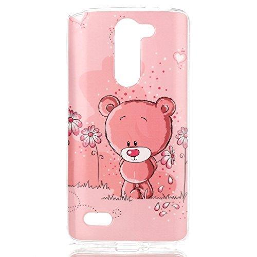 Carcasa LG L Bello,Funda Carcasa Soft Case Cover para LG L Bello D335 D331 Funda de Silicona de Gel[Not for LG Bello II]-Bebé oso