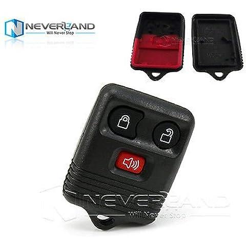 ozuzu (TM) 3pulsanti telecomando auto chiave Shell per Ford Ranger Escape Sport NUOVA sostituzione Keyless Entry auto chiave cover C10