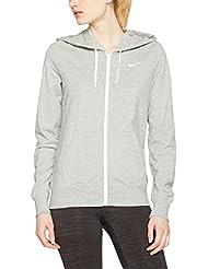 Nike W NSW FZ JRSY Sudadera, Mujer, Gris (DK Grey Heather / White), XS