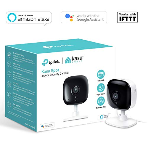 TP-Link Smart Spot Indoor Security Camera, No Hub Required, Works with  Alexa(Echo Spot/Show and Fire TV), Google Home/Chromecast and IFTTT, 1080p,