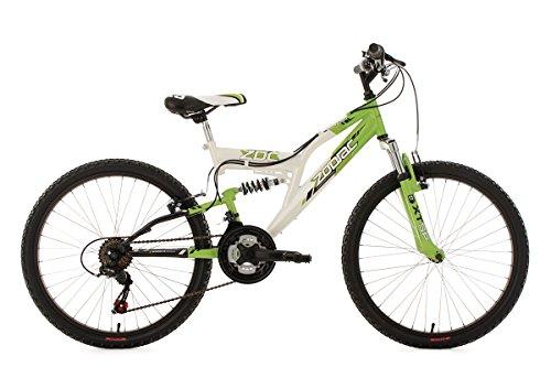 KS Cycling Jungen Fahrrad Kinderfahrrad Mountainbike Fully Zodiac, Weiß, 24, 602K