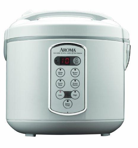 Aroma Housewares Professional (Biskuitgebäck (gekocht) (10-cup uncooked) Digital Reiskocher und Dampfgarer, Edelstahl Außen (arc-2000a) von Aroma - (Aroma Reiskocher)