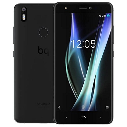 "bq Aquaris X Dual SIM 4G 64GB Black - Smartphone (13,2 cm (5.2""), 64 GB, 16 MP, Android, 7.1.1 Nougat, Negro)"