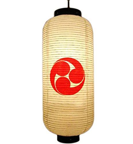 Beige Decoración de Restaurante de Sushi japonés Lámpara de lámpara de Linterna de Papel Colgante(20x50CM)