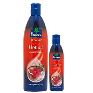 Parachute Advansed Ayurvedic Hot Oil,Warming Coconut Hair Oil,Frizz Free Hair, 400 ml With Free 90 ml