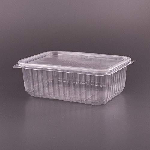 (Pack de 50 articles) 1000 ML en polypropylène de Grande conteneur à Salade à emporter Fast Food Boîte jetable Couvercles en Plastique, 1000 ML