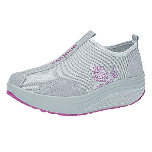 Laufschuhe Damen Air Gymnastik Schuhe Schnuren Leichte Freizeitschuhe Atmungsaktiv Turnschuhe Sportschuhe Bequem Outdoor Fitnessschuhe Sneaker