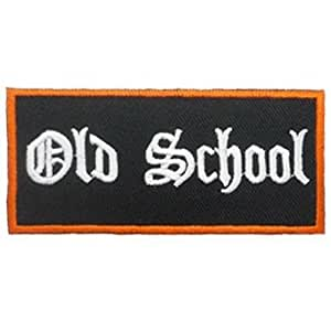 Ecusson brode patch Old School Embroidered Iron or sew On Patch by wonderfullmoon