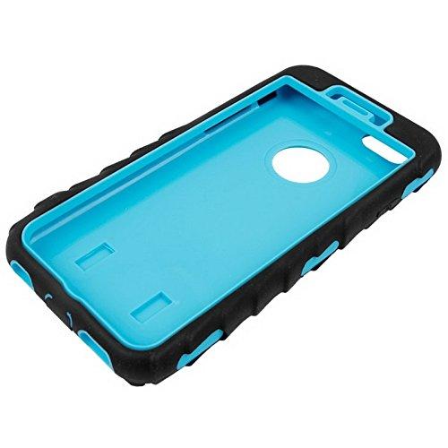 Phone case & Hülle Für IPhone 6 / 6S, Reifen Textur Silikon + Hartplastik Kombination Fall ( Color : White ) Blue