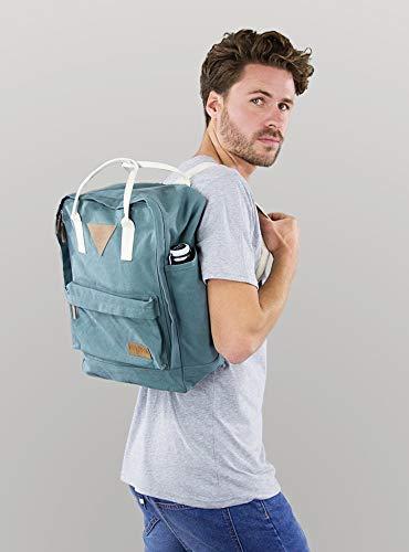 6c7b29d8a59af Ansvar II Rucksack aus Bio Baumwoll Canvas - Hochwertiger Damen   Herren  Tagesrucksack aus 100% nachhaltigen Materialien - Wasserabweisend - Rucksack  mit ...