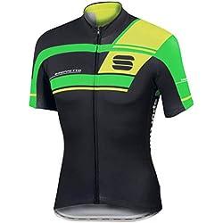 Maillot Sportful Gruppetto Pro Team Negro-Verde 2017
