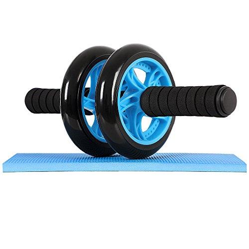 Songmics Bauchtrainer AB Roller für Fitness Bauchmuskeltraining Muskelaufbau Bauchroller für Frauen und Männer