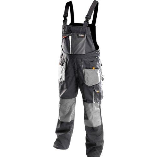 Profi Arbeitslatzhose schwarz/grau (neo), Latzhose Arbeitskleidung Arbeitshose