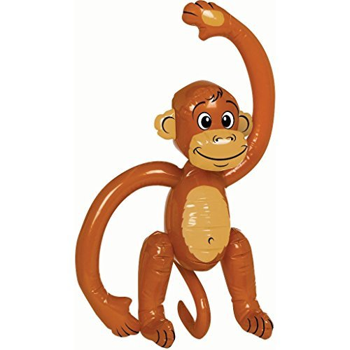 Inflatable Monkey - Jungle Party Decoration by Monkeyin' Around