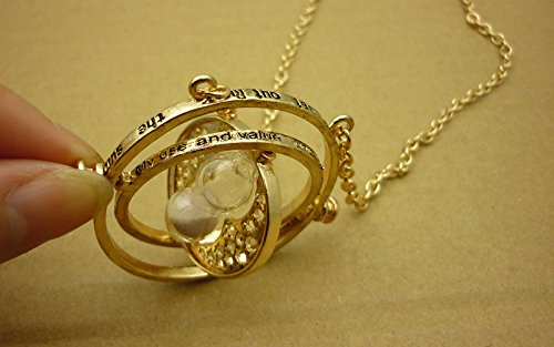 Hermine drehbar Zeit Turner Halskette Gold Sanduhr Schmuck 2014New (Zeit Turner Die Halskette)