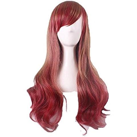 XNWP-Moda peluca larga rizada peluca cosplay Cos danza animación juego de rol