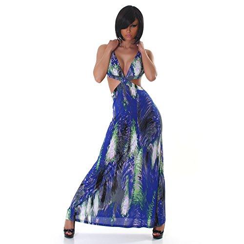 Jela London - Robe - Ajourée - Femme Multicolore multicolore Taille Unique Bleu