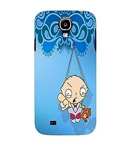 PrintVisa Cute Cartoon Modern Art 3D Hard Polycarbonate Designer Back Case Cover for Samsung Galaxy S4 Mini