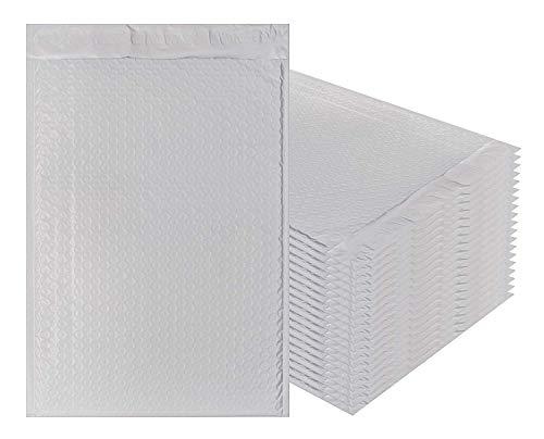 ndtaschen, 8,5 x 13,5 cm, 20 Stück Kissenumschläge, Weiß Peal and Seal. Laminierte Versandtaschen zum Versanden, Verpacken Großhandelspreis. ()