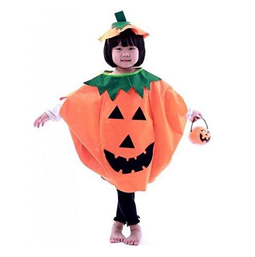 Lustige Kinder Halloween Laterne Gesicht Kürbis-Vlies-Kostüm Shirt Kinderkleidung mit komischer Hut