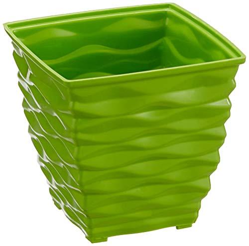 Klassic Plastic Square Planter Set (Small, Apple Green, Pack of 6)