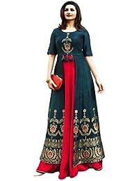 Black kite Marlin Women's Kurtas & Kurtis Rayon Long Kurti Long Kurti for Women Women's Dresses Rayon Maxi Dress