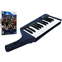 Rock Band 3 Wireless Pro Keyboard with Rock Band 3 Software Bundle (Wii)