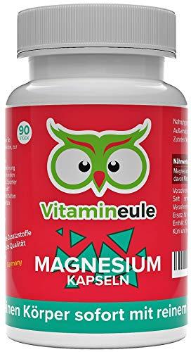 Magnesium Kapseln - komplett frei von Zusatzstoffen - 100% Zufriedenheitsgarantie - beste Qualität aus Deutschland! - 100% Zufriedenheitsgarantie - hochwertiges Magnesium - Vitamineule®