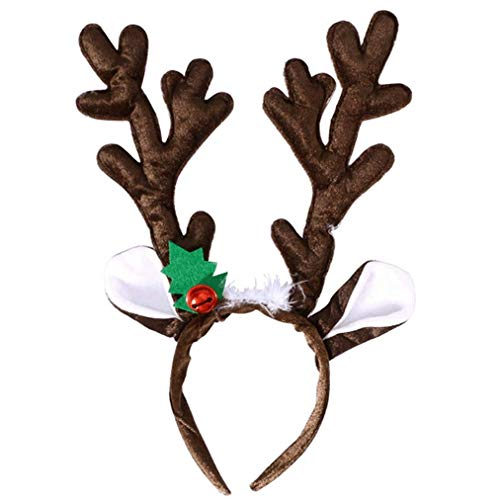 Ishua Weihnachten Rentier Geweih Stirnband Lustige Party Dress Up Stirnband für Kinder