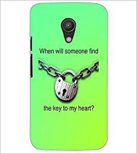 PrintDhaba Quote D-3917 Back Case Cover for MOTOROLA MOTO G2 (Multi-Coloured)