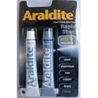 NEW ARALDITE RAPID STEEL ADHESIVE GLUE SUPER STRONG
