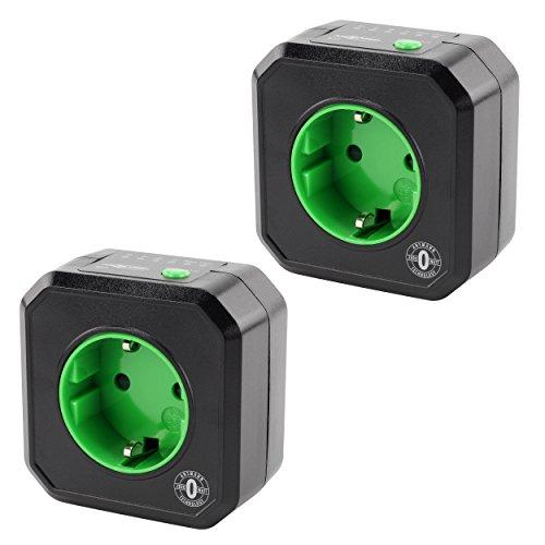 ANSMANN Timer Steckdose AES1 / Energiesparende Steckdose mit Zeitschaltuhr für Haushaltsgeräte:...