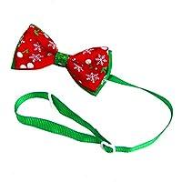 Wicemoon 1pcs Corbata de Lazo para Mascotas Corbata de Moño para Perros Accesorios de Fiesta de Navidad para Mascotas 8 * 4 * 15cm