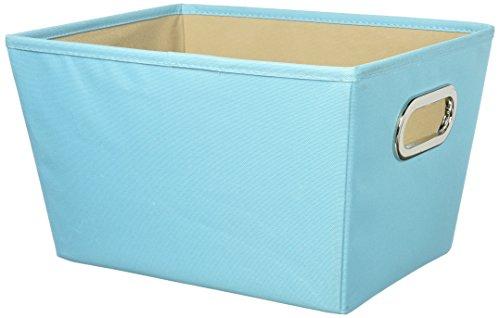 Honey Can Do SFT-01993 Bac de Rangement Moyen avec Poignée Plastique Bleu 40,01 x 27,94 x 33,02 cm