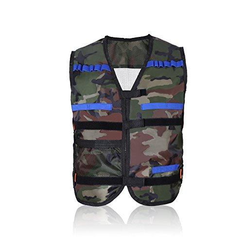 yosoo Kids Kinder Elite Tactical Weste für Hasbro Nerf Gun N-Strike Elite Series, camouflage (Camouflage Kinder Weste)