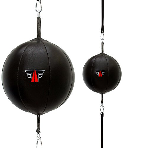 FOX-FIGHT DOPPELENDBALL SPEEDBALL BOXBIRNE BOXBALL Echtes Leder