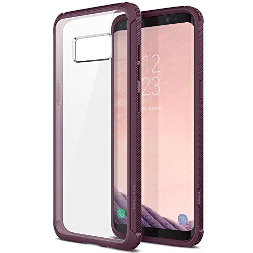 Obliq Naked Schutzhülle Shield Case mit Klar stoßfest Schutz TPU Bumper für Samsung Galaxy S8(2017)-Pflaume Orchidee