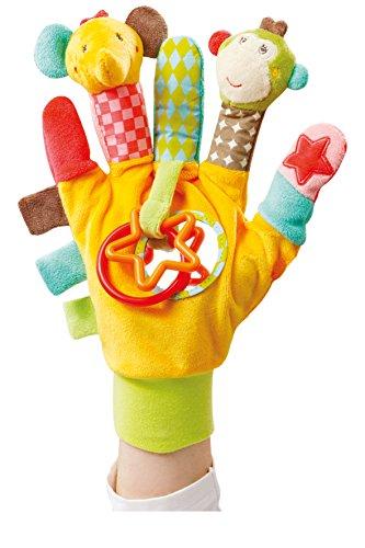 Fehn, marionetas de dedo de temática Safari, amarillo (gelb)