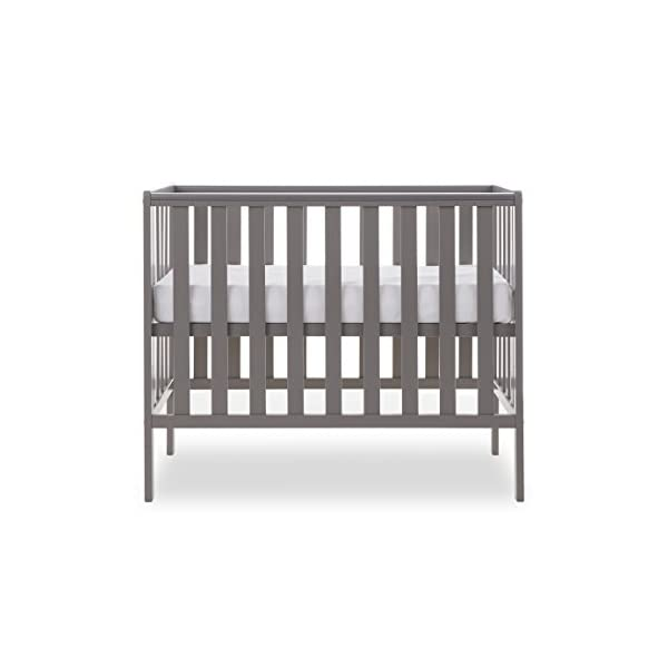 Obaby Bantam Space Saver Cot - Taupe Grey Obaby Adjustable, 3 position base height Beautiful slatted ends and sides help you keep an eye on your little one Teething rails ensure delicate teeth are protected 2