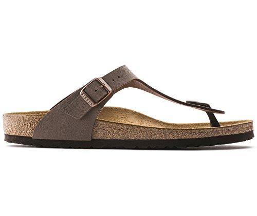 Birkenstock gizeh birko-flor, sandali unisex - adulto, marrone (mocca nubuk), 39 (stretta)