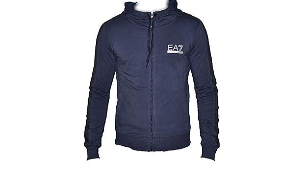 e8a3b4165a6 Sweat à capuche Emporio Armani EA7 - Homme - Bleu Nuit - Taille XXL   Amazon.fr  Vêtements et accessoires