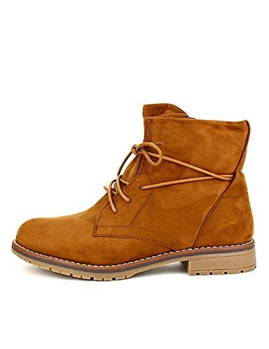 Camel Bottines Caramel Chaussures Denwers Femme Simili Cendriyon CwZgRnqtn