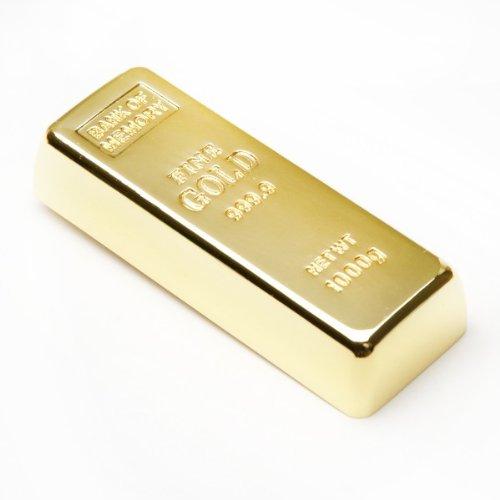 aricona 16 GB USB Stick in Goldbarren Metall Form - 2.0 Flash Drive Speicher - coole Memory Sticks & lustige Geschenke - origineller und witziger Motiv Speicherstick
