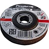 Piranha DPC Concrete and Stone Cutting Bonded Disc, 115 x 3.2 mm - Set of 5