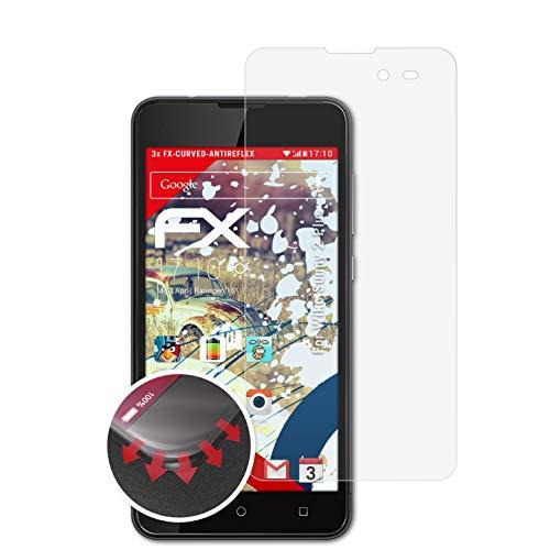 atFolix Schutzfolie passend für Wiko Sunny 2 Plus Folie, entspiegelnde & Flexible FX Bildschirmschutzfolie (3X)