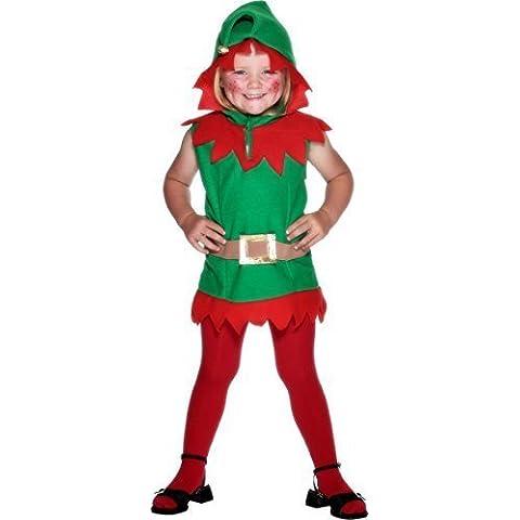 Palo de golf para niños ropa de descanso para niñas diseño de elfo navideño para niños de Papá Noel Little carcasa Ben el taller de Papá Noel Helper y balón de Holly de serie de dibujos animados diseño de rosetones de Fancy TV disfraz infantil de atuendo e instrucciones para hacer vestidos 3-4